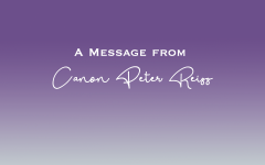 A message from Canon Peter Reiss