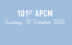 101st APCM - Sunday, 18th October 2020
